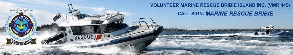 Volunteer Marine Rescue Bribie Island Inc. (VMR 445) Logo